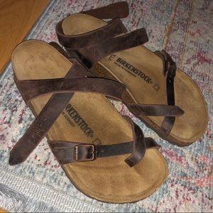 Birkenstock's - yara oiled leather NEW